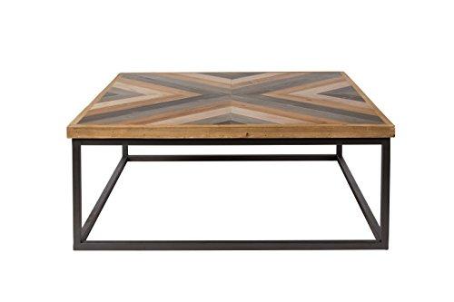 Felis Lifestyle 2300117 Table Basse Joy, Bois, Marron, 81 x 81 x 32 cm