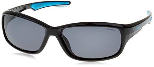 Polaroid P0425 Y2 D51 55 Gafas de sol, Negro (Black Blue/Grey Pz), Unisex Niños
