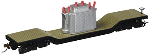 Bachmann Trains - 52' Center Depressed Flat Car - with TRANSFORMER - HO Scale