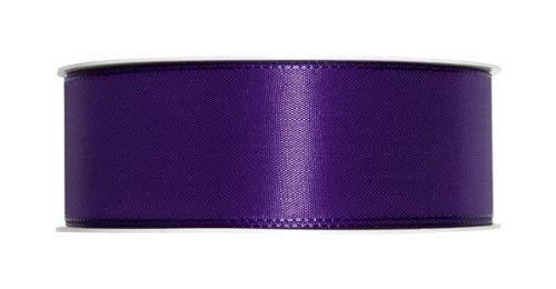 Ruban de taffetas/violet/marron - 40 mm/50 m