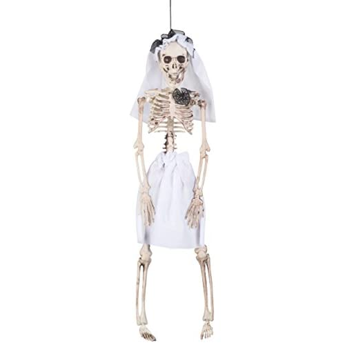 Boland- Decorazione Scheletro Sposa Skeleton Bride, Bianco, 72089