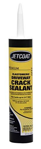 Jetcoat Premium Elastomeric Asphalt Crack Filler and Sealant, Perfect for Blacktop Repair (10 oz)