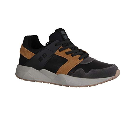 Mundart 217-ZFA Schwarz/Braun - Sneaker - Herrenschuhe Sneaker/Schnürschuh, Schwarz, Leder/Textil/Synthetik (Velour/mesh/neopren)