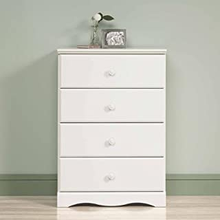 BLOSSOMZ Sauder Storybook 4-Drawer Chest, Soft White, Drawers with Metal Runners and Safety Stops (Soft White)