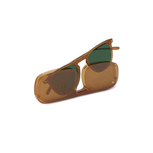 Nooz Gafas de sol polarizadas para hombre y mujer - Protección de categoría 3 - Color miel - con estuche compacto - Colección DINO