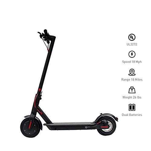 YDS Electric Scooter, 8.5-inch Vacuum Tire Foldable Commuter Upgraded, Suitable for Adults (US...