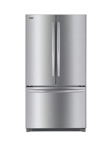 Daewoo RFS-26ABT French Door Bottom Mount Refrigerator, 26 Cu Ft, Silver/Stainless Steel, includes delivery and hookup