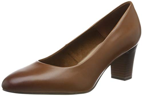 Tamaris Damen 1-1-22435-23 Pumps, Braun (Cognac 305), 38 EU