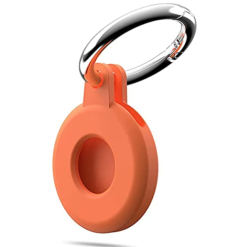 Hspcam Funda protectora para Aircovered AirTag Case Protector de silicona compatible con Apple AirTags Tracker Hebilla (coral)