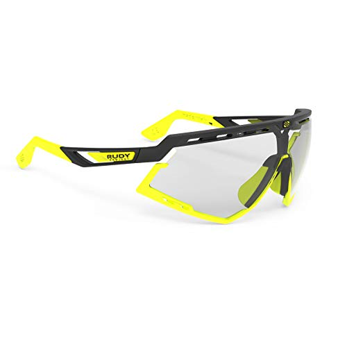 Rudy Project Defender Matte Black Frames with ImpactX-2 Photochromic Clear to Laser Black Lenses