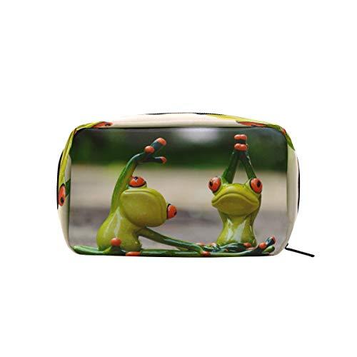 FAJRO Kosmetiktasche mit Froschmotiv, für Yoga, Make-up-Tasche