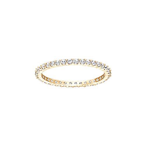 Swarovski Damen-Damenring VITTORE Metall Swarovski-Kristall 52 Gold 32010498