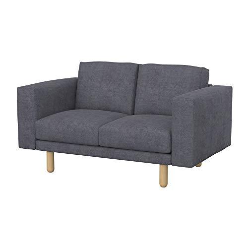 Soferia Funda de Repuesto para IKEA NORSBORG sofá de 2 plazas, Tela Softi Grey, Gris