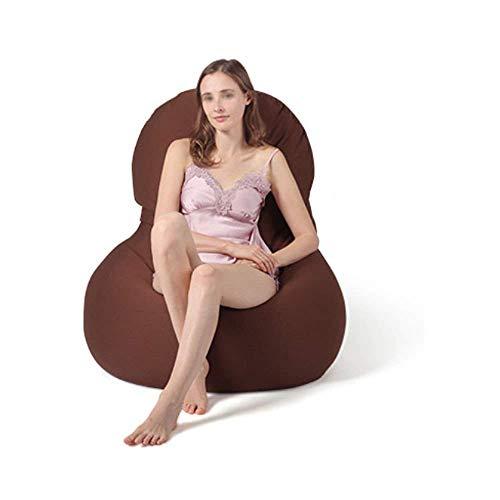 WYZQ Sillones Bean Bag Silla Felpa Ropa Edredones Organizador Resistente al Agua-Diseño ergonómico para Soporte Corporal -Duradero y cómodo, Rojo-L (Marrón, Pequeño), Sillas