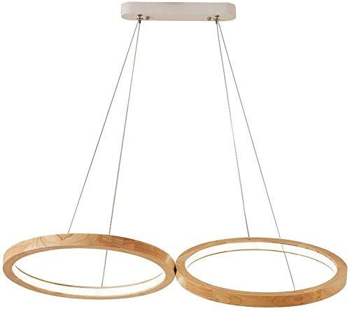 3-Etage LED Deckenleuchte Holz - Geölt...