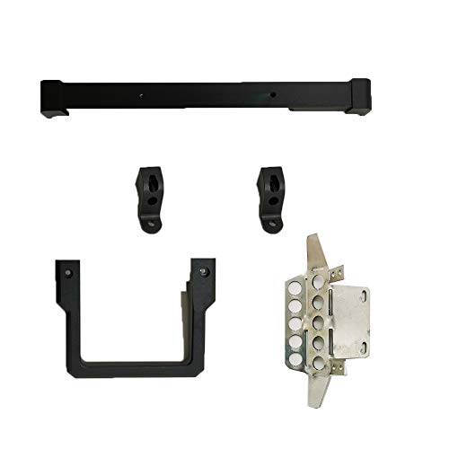RONSHIN Play for Metal Portal Front Bumper Protection Plat Winch for MN-90 MN-91 MN-99 MN-99S 1/12 2.4G 4WD RC Car Upgrade Spare Parts Black Bumper + Protection Board