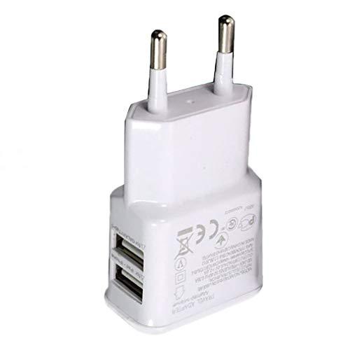 Nrew 1A Adaptador de Corriente USB Dual portátil Cargador de teléfono móvil...