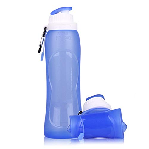 caomei Venta a estrenar 500 ml Deporte de Viaje Tamaño Flexible Plástico ecológico Plegable Botellas de Agua de Silicona Bebida Plegable