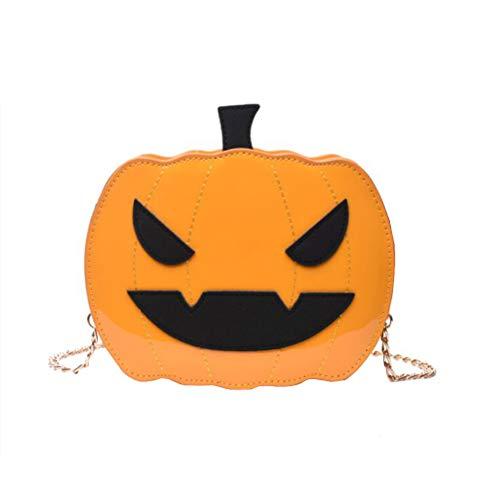 Amosfun Halloween Pumpkin Chain Bag Halloween Lustige Kette Umhängetasche Fashion Crossbody Bag für Halloween Party Supplies