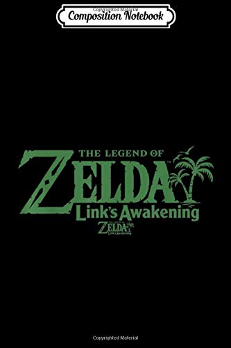 Composition Notebook: Legend Of Zelda Links Awakening Palm Tree Green Text Logo Journal/Notebook Blank Lined Ruled 6x9 100 Pages