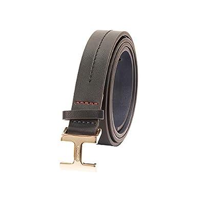 Tommy Hilfiger Women's 100% Leather Fashion Belt, TH Black, Small