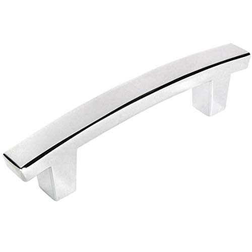 10 Pack - Cosmas 5235CH Polished Chrome Contemporary Cabinet Hardware Handle Pull - 3 Inch (76mm) Hole Centers