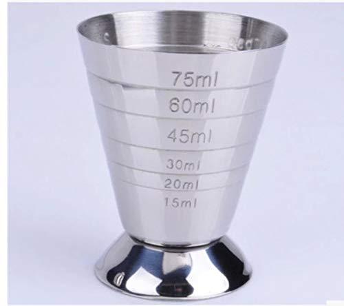 La cantidad de taza de acero inoxidable sirve nuestra herramienta de cóctel de cuchara de escala Ml en cascada