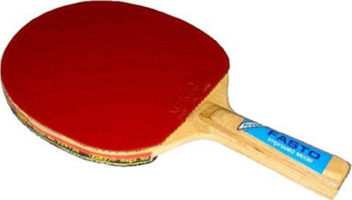 GKI Fasto Table Tennis Racquet, Wood, Red