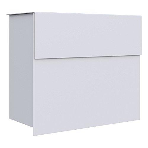 Briefkasten, Design Wandbriefkasten Molto Weiß - Bravios