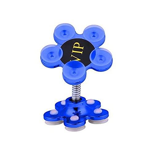 Titular del teléfono Fuerza magnética Magic Sucker Soporte de teléfono de doble cara Soporte de succión del automóvil Soporte para teléfono inteligente Coche de 360 grados Gireable ( Color : Blue )