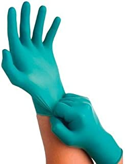 Ansell 92-600-6.5-7 Touch N Tuff Disposable Gloves, Powder Free, Nitrile, 4 mil, Size 6.5 - 7, Green