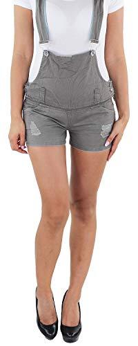 Sotala Damen Hot Pants Latzhose Latz Hotpants Shorts Latzshorts Kurze Hose A 36 (S)