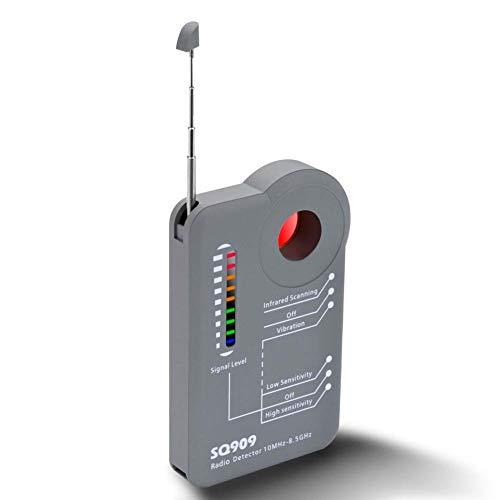 Drahtloser Kamera Detektor Schnurloser Wanzenfinder zum Aufspüren von Mobilfunksignale, Wanzen, GPS-Signalen Detektor GSM Tracker Abhörgeräte Funkkameras Wanzenfinder
