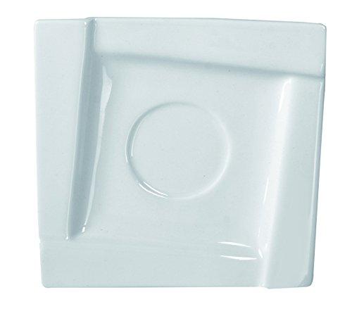 Dajar kubiko Soucoupe 14 cm Ambition, Porcelaine, Blanc, 14 x 14 x 1,7 cm