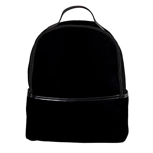 KAMEARI Zaino Nero Pure Background Casual Daypack per Viaggi con Tasche Laterali Bottiglia
