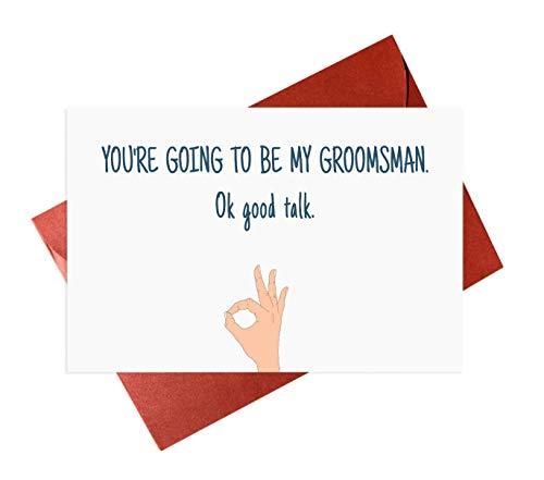 Funny Groomsmen Card,Brother Groomsman Card,Friends Groomsman Cards,Wedding Party Proposal Card