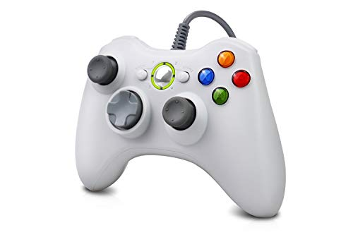 Vinklan Wired Xbox 360 Controller Compatible with Microsoft Xbox 360 & 360 Slim/Windows 7/8/10 (White)