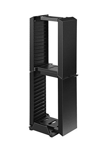 Feicuan Juego Torre de Almacenamiento BLU-Ray Torre de Almacenamiento Estante para 24 Juegos, Soporte Vertical para PS4,PS4 Slim/Pro, Switch, Xbox One Slim