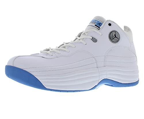 Jordan Men's Shoes Nike Jumpman Team 1 White University Blue CV8926-107 (Numeric_9)