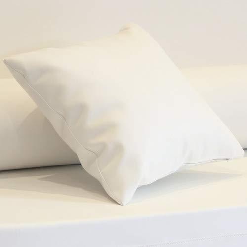 Cojín enfundado en Polipiel Náutico para Sofá Palet (Blanco)