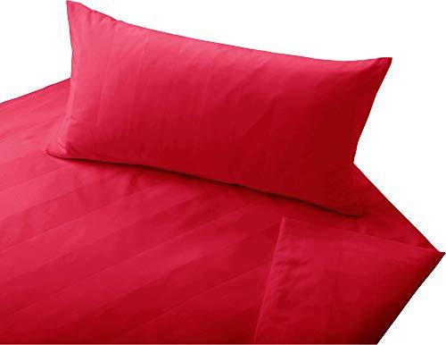 Cotonea Bio Bettwäsche Superbe Satin rot Größe 135x200 cm (80x80 cm)