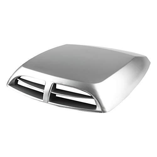 Larcele Auto Lufteinlässe Außen Dekorative Luftdurchfluss Luftzufuhr Belüftungsöffnungen Aufkleber JFK-03 (Silber) MEHRWEG