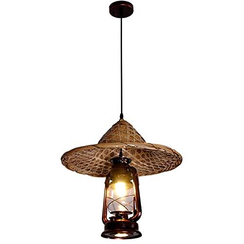 Lámpara antigua retro nostálgica araña de araña cúpula rural casa de familia colgante lámpara lámpara de araña iluminación crea para porche dormitorio almacén rústico industrial elegante metal