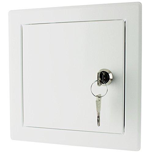 MKK - 20127-005 - Revisionsklappe Revisionstür Wartungs-Inspektionsklappe Metall pulverbeschichtet weiß 500 x 500 mm