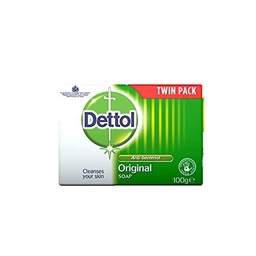 Dettol Bar Soap Original, Pack of 2 x 100 g