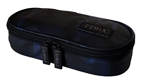 Estuche ovalado organizado Comix Special Camou Metal Azul 64931BL