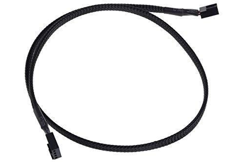 Phobya 4Pin PWM Stecker auf Stecker 60cm - Schwarz Kabel Lüfterkabel und Adapter