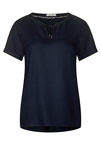 CECIL Damen 341575 Bluse, Blau (deep Blue 10128), Medium (Herstellergröße:M)