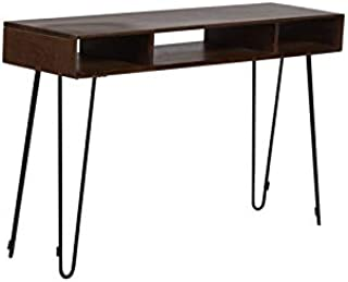 Hawthorne Collections Graphik Contemporary Solid Mango Wood Console Table - Chestnut