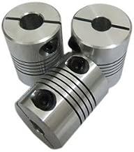 Fevas 4 PCS/LOT, 6mm to 14mm Flexible Shaft Coupler 614mm Clamp Pipe Coupling Diameter 28mm Length 30mm #050016